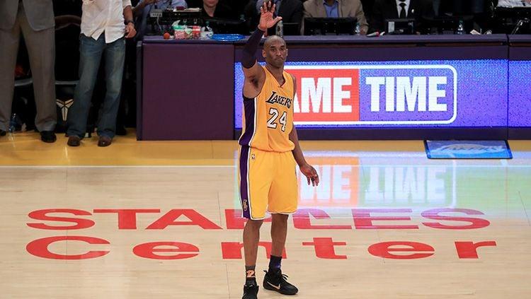 Legenda NBA, Kobe Bryant merupakan salah satu pebasket terbaik sepanjang masa. Copyright: © Getty images