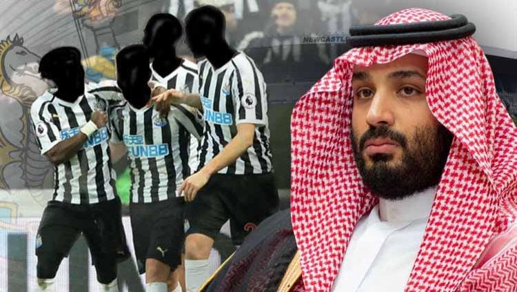 Newcastle United dan Pangeran Salman. Copyright: © Grafis: Yanto/INDOSPORT