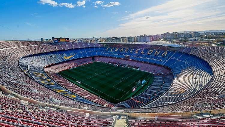 Stadion Camp Nou milik klub LaLiga Spanyol, Barcelona. Copyright: © Quality Sport Images/GettyImages