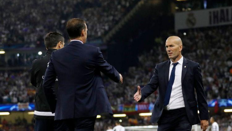 Tak peduli juara LaLiga Spanyol atau tidak, Zinedine Zidane kabarnya akan tetap tinggalkan Real Madrid akhir musim ini. Hengkang ke Juventus? Copyright: © Boris Streubel - UEFA/UEFA via Getty Images