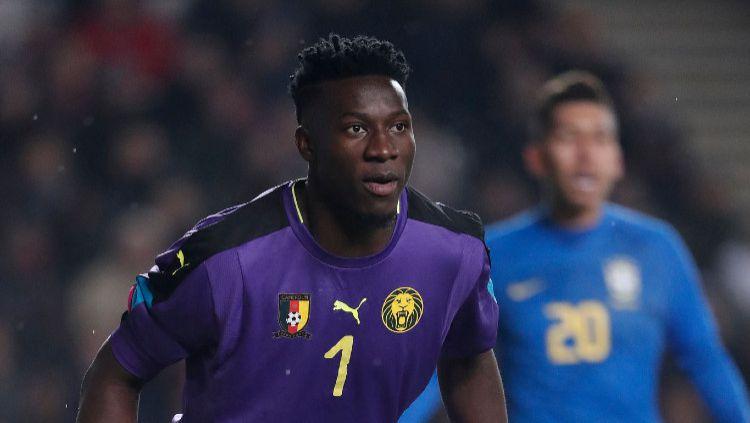 Andre Onana yang juga sekaligus adik dari Nnana Onana selaku eks Persikad Depok dilaporkan lebih memilih Inter Milan meski juga telah didekati Lyon. Copyright: © Soccrates/Getty Images