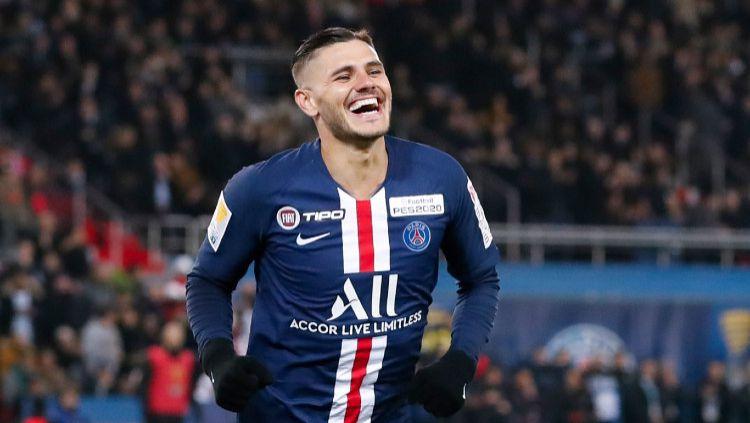Paris Saint-Germain (PSG) siap membayar Rp 900 miliar ke Inter Milan demi permanenkan Mauro Icardi. Copyright: © Catherine Steenkeste/Getty Images
