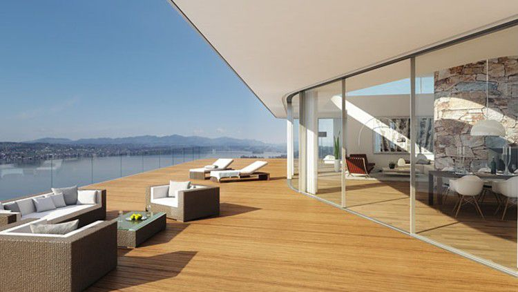 Salah satu sudut rumah Roger Federer. Copyright: © Architectural Digest