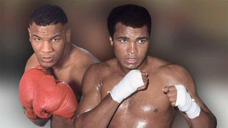 Tak banyak yang tahu jika ternyata petinju legendaris dunia, Muhammad Ali takut dengan pukulan yang dimiliki oleh Mike Tyson. Copyright: © Grafis: Yanto/INDOSPORT