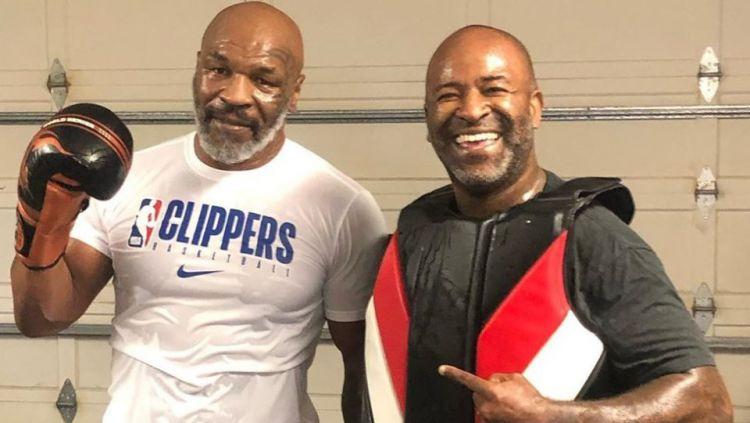 Lawan Mike Tyson kian banyak. Setelah Evander Holyfield ada dua legenda sekaligus mantan jawara MMA yang tertarik untuk bertarung. Copyright: © The Sun