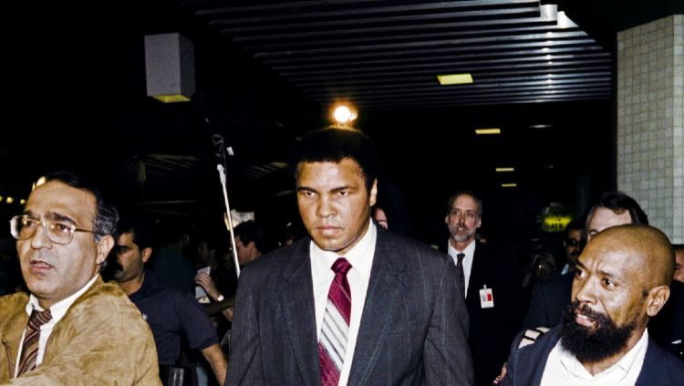 Legenda tinju dunia (alm) Muhammad Ali. Copyright: © Rabih Moghrabi/AFP via Getty Images