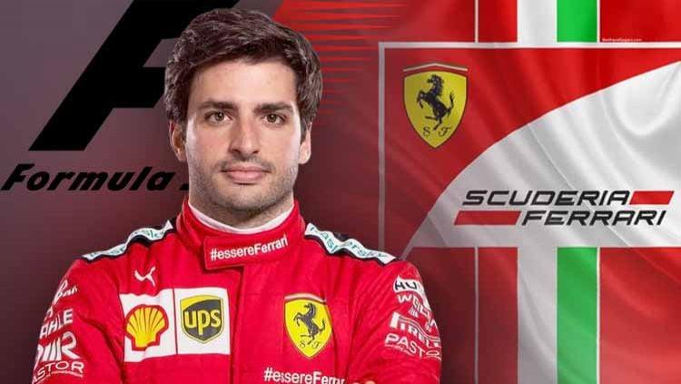 Carlos Sainz, pembalap Formula 1 asal Spanyol untuk Ferrari. Copyright: © Grafis: Yanto/INDOSPORT
