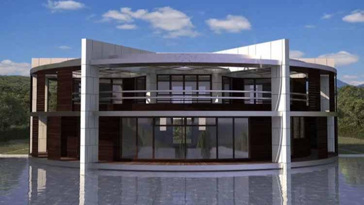 Rumah mewah Lionel Messi yang berbentuk bola. Copyright: © joe.ie