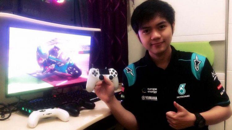 Gamer Indonesia, Muhammad Mulkana resmi dikontrak oleh tim Petronas Yamaha SRT sebagai atlet eSports yang akan berlaga di balapan virtual MotoGP. Copyright: © ANTARA/HO-sepangracingteam.com