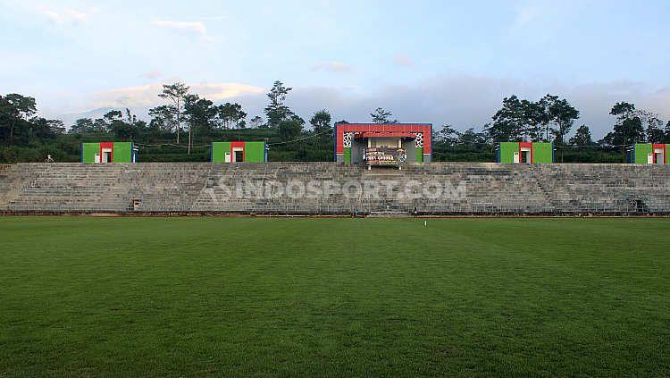 Pembangunan Stadion Kebo Giro Boyolali. Copyright: © Ronald Seger Prabowo/INDOSPORT
