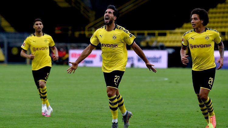 Borussia Dortmund sukses menang tipis atas lawannya Herta Berlin dalam lanjutan pekan ke-29 Bundesliga Jerman. Copyright: © Twitter @BVB