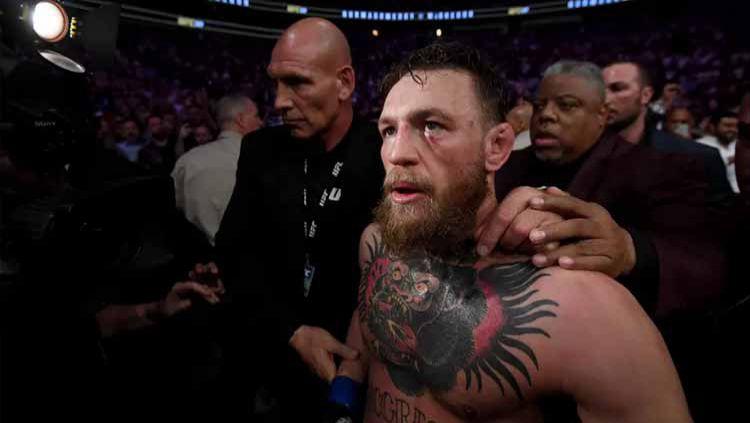 Mantan petarung UFC Conor McGregor turut memberikan reaksi usai tahu ayah Khabib Nurmagomedov meninggal dunia, Jumat (03/07/20) waktu setempat. Copyright: © Stephen McCarthy/Sportsfile via Getty Images