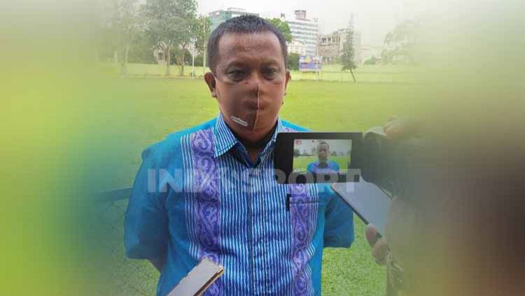 Manajer PSMS Medan, Mulyadi Simatupang. Copyright: © Aldi Aulia Anwar/INDOSPORT
