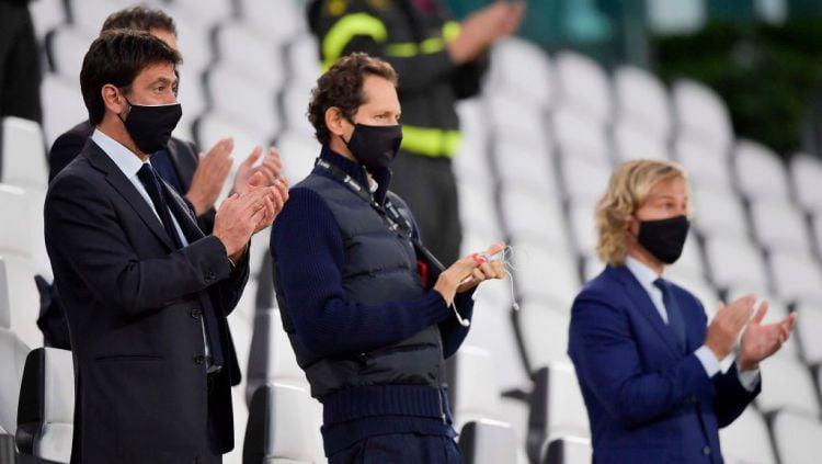 Presiden Juventus, Andrea Agnelli dan bos Napoli, Aurelio De Laurentiis berencana untuk memboikot jeda internasional. Copyright: © Daniele Badolato - Juventus FC/Juventus FC via Getty Images