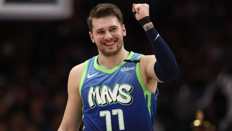 Pemain klub NBA Dallas Mavericks, Luka Doncic. Copyright: © Ronald Martinez/Getty Images