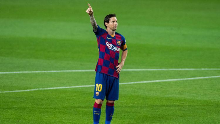Presiden klub sepak bola Barcelona, Josep Maria Bartomeu, mengatakan bahwa Lionel Messi akan memperpanjang kontrak bersama raksasa LaLiga Spanyol tersebut. Copyright: © Marc Gonzalez Aloma / AFP7 / Europa Press Sports via Getty Images
