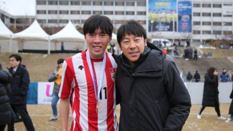 Kemenangan timnas Indonesia U-19 atas Qatar di laga uji coba keempat di Kroasia turut mendapat sorotan putra Shin Tae-yong bernama Shin Jae-won. Copyright: © News Joins/Asosiasi Sepak Bola Korea Selatan