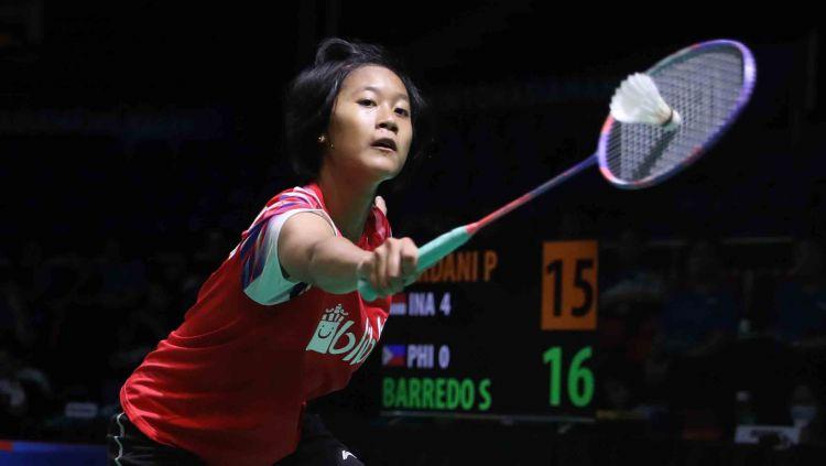 Badminton Eropa memberikan pujian kepada talenta muda Indonesia, Putri Kusuma Wardani yang menang tanpa kesulitan saat hadapi unggulan 3, Line Christophersen. Copyright: © PBSI via badmintonindonesia.org