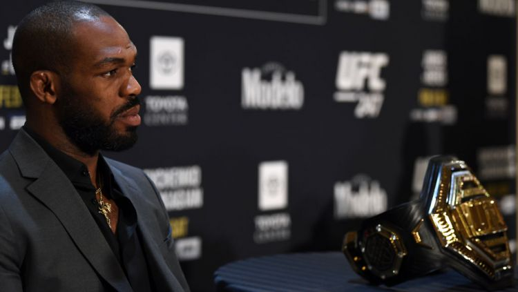 Jon Jones, petarung UFC yang mendapat tawaran bertanding Mike Tyson. Copyright: © Josh Hedges/Zuffa LLC via Getty Images