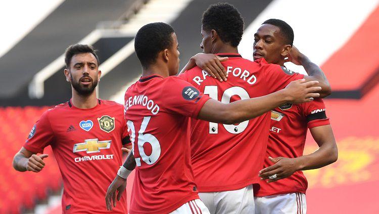 Manchester United bisa saja terkena masalah jika kembali ke kompetisi Liga Champions musim depan. Copyright: © Michael Regan/Getty Images