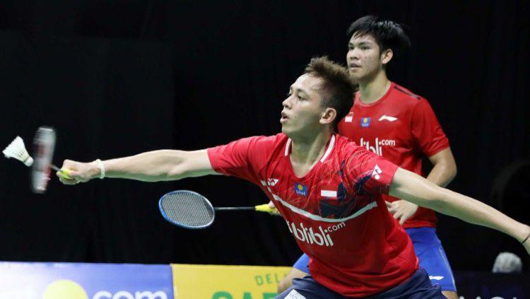Muhammad Rian Ardianto/Daniel Marthin di Mola TV PBSI Home Tournament 2020. Copyright: © Badminton Indonesia