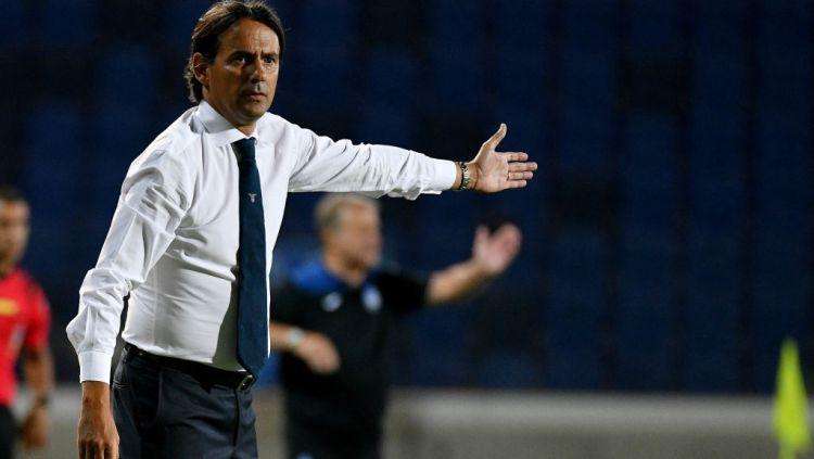Simone Inzaghi, pelatih Lazio saat melawan Atalanta Copyright: © Marco Rosi - SS Lazio/Getty Images