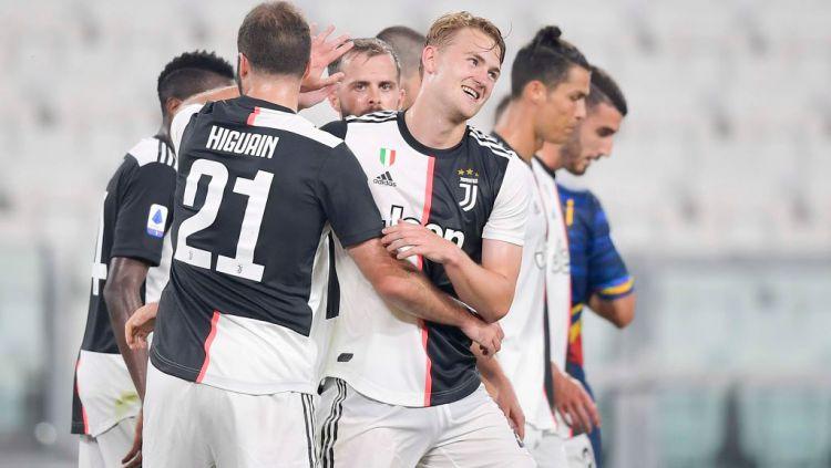Matthijs de Ligt, bintang Juventus diminati Barcelona yang sampai rela barter tiga bintangnya pada bursa transfer lanjutan. Copyright: © Daniele Badolato - Juventus FC/Juventus FC via Getty Images