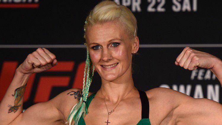 Petarung Ultimate Fighting Championship (UFC) wanita asal Belgia bernama Cindy Dandois. Copyright: © Jeff Bottari/Zuffa LLC/Zuffa LLC via Getty Images