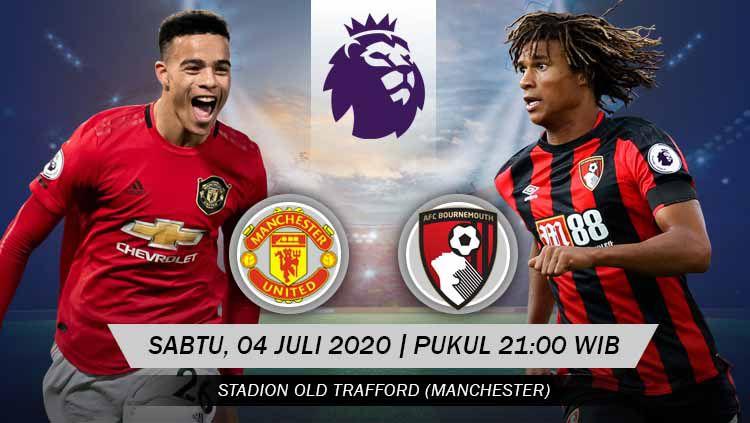 Duel seru antara Manchester United vs Bournemouth tersaji pada pekan lanjutan Liga Inggris 2019-2020, Sabtu (04/07/20). Berikut prediksi pertandingannya. Copyright: © Grafis: Yanto/INDOSPORT