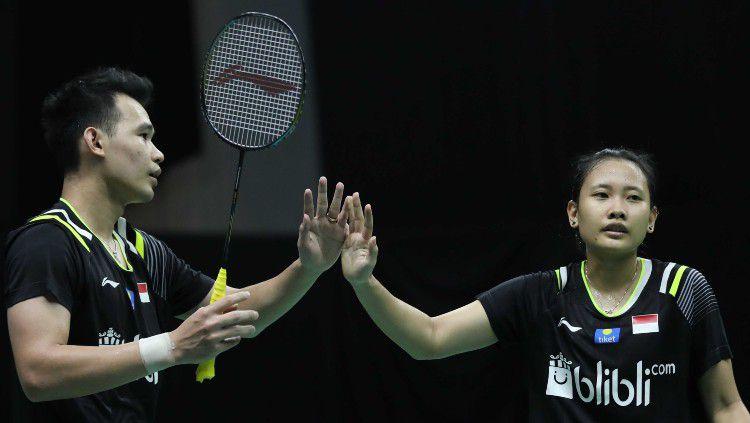 Rinov Rivaldy/Pitha Haningtyas Mentari di Mola TV PBSI Home Tournament. Copyright: © Badminton Indonesia