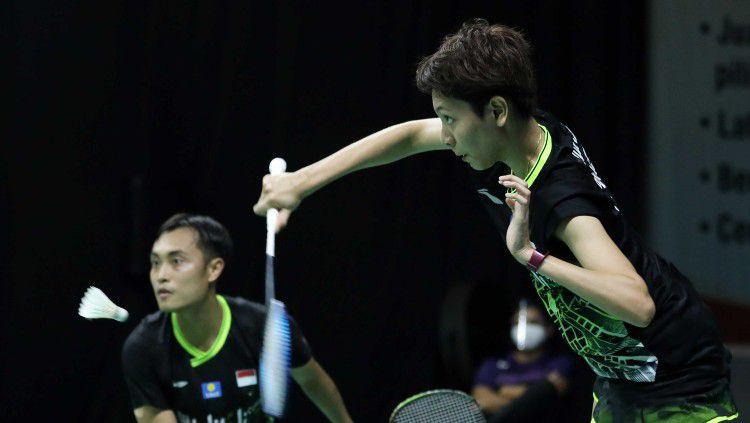 Pasangan Indonesia Hafiz Faizal/Gloria E. Widjaja mengaku kurang beruntung setelah kalah pasangan underdog asal Malaysia di perempat final Toyota Thailand Open. Copyright: © Badminton Indonesia