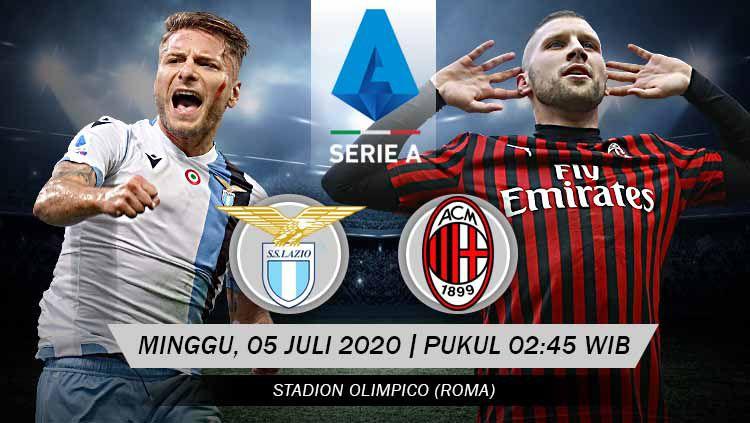 Lazio harus menghadapi AC Milan di pekan ke-30 Serie A Liga Italia 2019/20. Minggu (05/07/20), yang diprediksi tak akan berjalan mudah. Copyright: © Grafis: Yanto/INDOSPORT