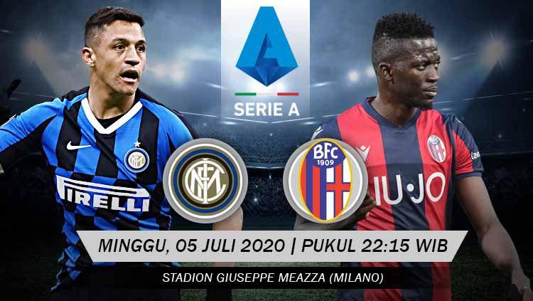 Prediksi pertandingan Inter Milan vs Bologna (Serie A Liga Italia), Minggu (05/07/20). Copyright: © Grafis: Yanto/INDOSPORT