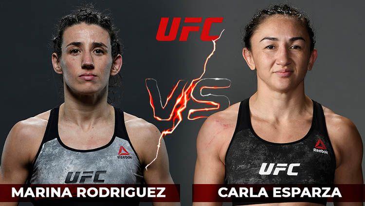 Duel UFC wanita yang akan mempertemukan Marina Rodriguez vs Carla Esparza batal digelar lantaran ditemukan adanya kasus positif virus corona. Copyright: © Amanda Dwi Ayustri/INDOSPORT
