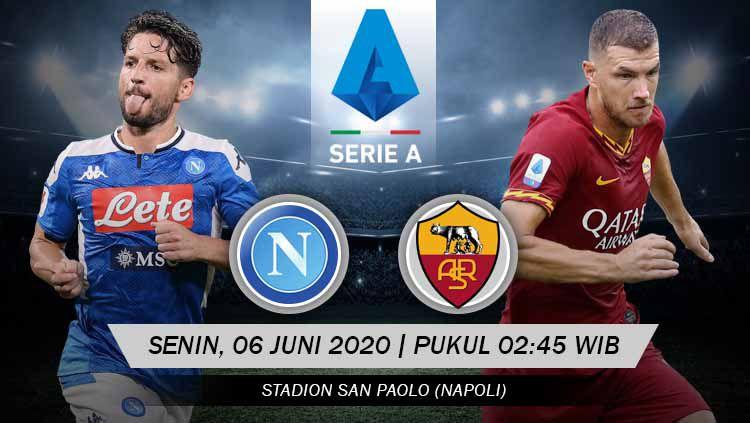 Berikut tersaji prediksi pertandingan Serie A Liga Italia 2019-2020 antara Napoli vs AS Roma di San Paolo Stadium, dimana ini merupakan duel dua tim terluka. Copyright: © Grafis: Yanto/INDOSPORT