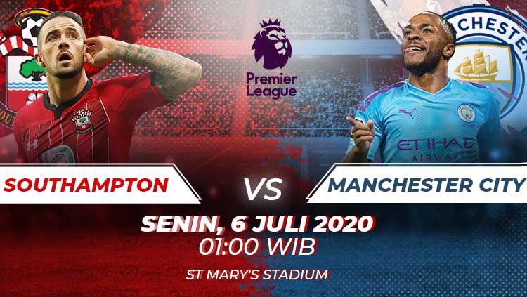 Di pekan ke-33 Liga Inggris 2019/20 Manchester City diprediksi tak akan banyak mengalami kesulitan saat hanya berhadapan dengan Southampton, Senin (06/07/20). Copyright: © Amanda Dwi Ayustri/INDOSPORT