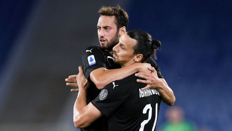 Hasil pertandingan ajang Liga Italia 2019-20 antara Lazio vs AC Milan berkesudahan dengan skor 0-3, Minggu (05/07/20) dini hari WIB. Copyright: © Giuseppe Maffia/NurPhoto via Getty Images
