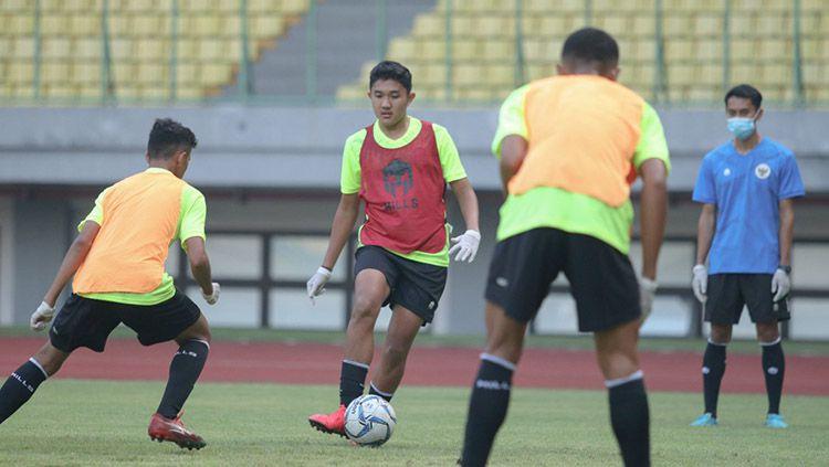 TC hari pertama Timnas Indonesia U-16 di Stadion Patriot Bekasi. Copyright: © Media PSSI