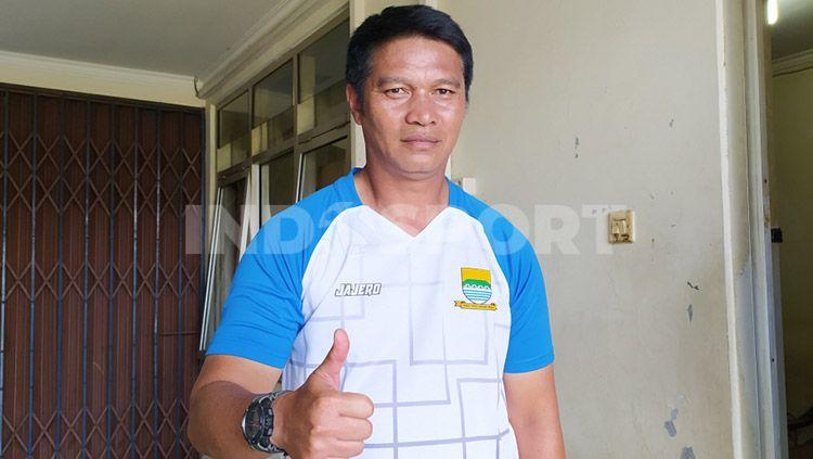 Yadi Mulyadi merupakan salah satu pemain andalan tim Persib Bandung di era 1990-an dan memiliki prestasi di tim kebanggaan Bobotoh. Apa kabar ia? Copyright: © Arif Rahman/INDOSPORT