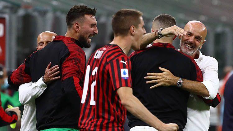 AC Milan Bantai Parma 3-1, Stefano Pioli Mengeluh, Ibrahimovic Ngomel Copyright: © Marco Luzzani/Getty Images