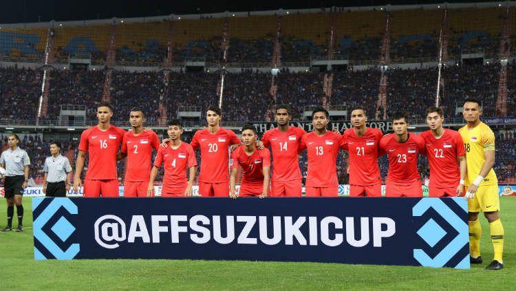 Timnas Singapura di Piala AFF 2018. Copyright: © Pakawich Damrongkiattisak/Getty Images