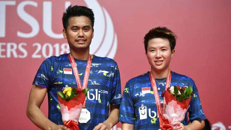 Peraih medali perak Tontowi Ahmad dan Liliyana Natsir, Daihatsu Indonesia Masters 2018. Copyright: © Robertus Pudyanto/Getty Images