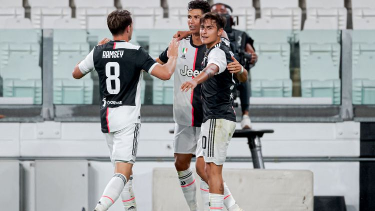 Langkah Cristiano Ronaldo tinggalkan Juventus dan gabung PSG terkendala Neymar dan Kylian Mbappe. Copyright: © Mattia Ozbot/Soccrates/Getty Images