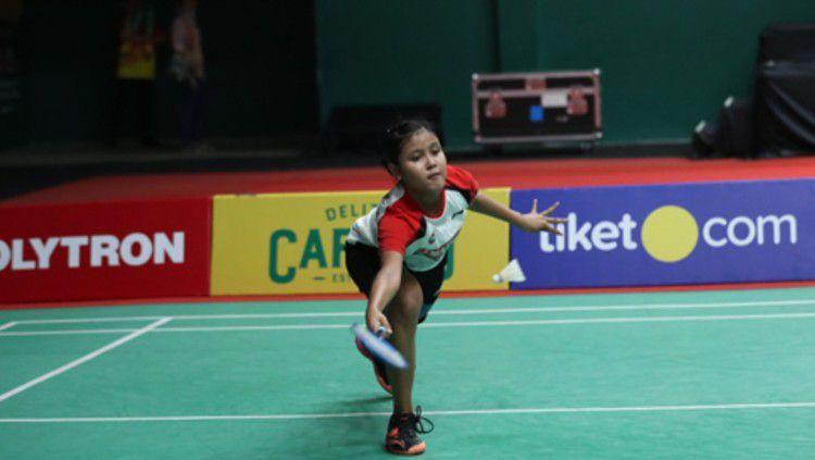 Bakal hadapi Gregoria Mariska di Mola TV PBSI Home Tournament, inilah profil singkat Bilqis Prasista, putri legenda tunggal putra Indonesia, Joko Suprianto. Copyright: © Badminton Indonesia