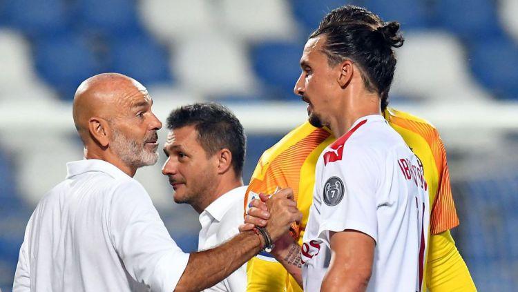 Manajemen AC Milan menyediakan dana 100 juta euro (Rp1,7 triliun) kepada pelatih Stefano Pioli untuk membangun tim dengan Zlatan Ibrahimovic sebagai pusatnya. Copyright: © Alessandro Sabattini/Getty Images