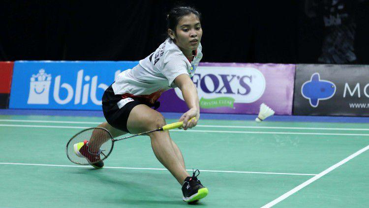 Gregoria Mariska Tunjung di Mola TV PBSI Home Tournament. Copyright: © Badminton Indonesia