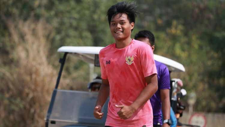 Kartika Vedhayanto ketika melakoni TC Timnas U-19 di Thailand beberapa waktu lalu. Copyright: © Dok Pribadi Kartika Vedhayanto