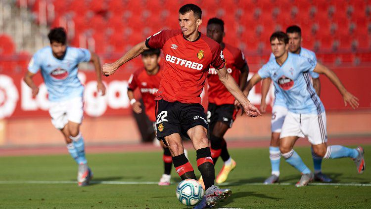 Ante Budimir, pemain klub LaLiga RD Mallorca. Copyright: © Quality Sport Images/Getty Images