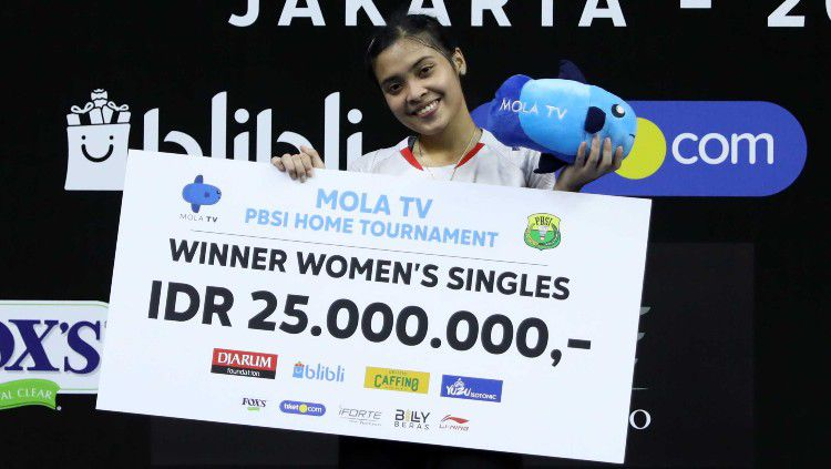Berhasil revans dari Putri Kusuma Wardani di final Mola TV PBSI Home Tournament, pebulutangkis Gregoria Mariska akui masih kewalahan dengan dua hal ini. Copyright: © Badminton Indonesia