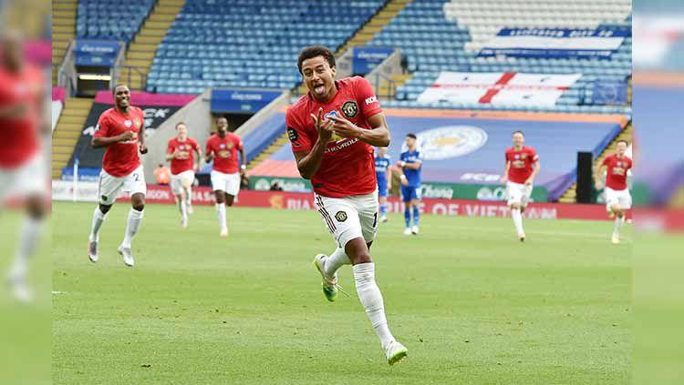 Selebrasi Lingard mencetak gol pertamanya Copyright: © Getty images
